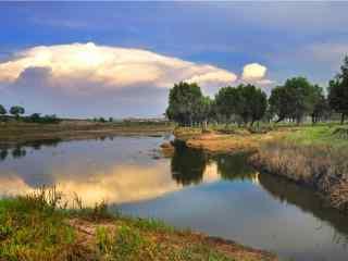 洞庭湖和谐湿地风景图片壁纸