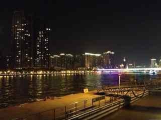 珠江夜景风景桌面壁纸