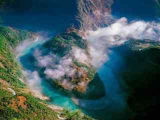 清新的怒江风景桌面壁纸
