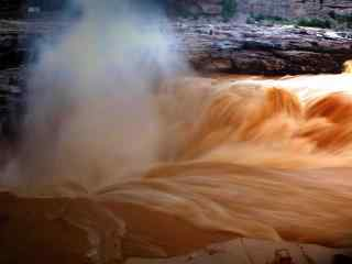 壮观的黄河风景图片壁纸