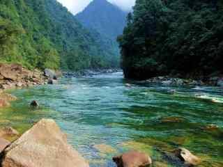 唯美怒江风景图片桌面壁纸