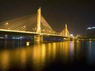 繁华的珠江夜景风景图片