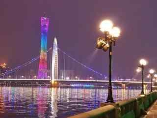 中国河流之璀璨的珠江夜景壁纸