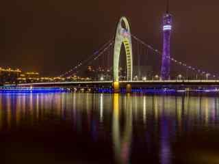 中国河流之珠江夜景图片壁纸