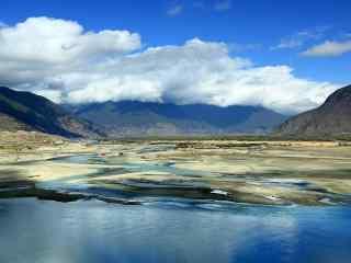 小清新唯美雅鲁藏布江风景壁纸