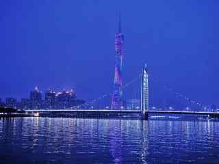 中国珠江夜景风景图片