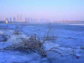 冬日松花江雪景图片壁纸