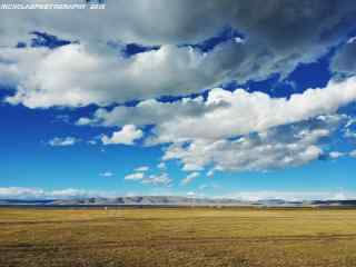 西藏拉萨唯美大自然风光桌面壁纸