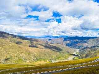 壮丽的西藏拉萨风景桌面壁纸