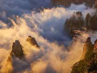 唯美云雾围绕在黄