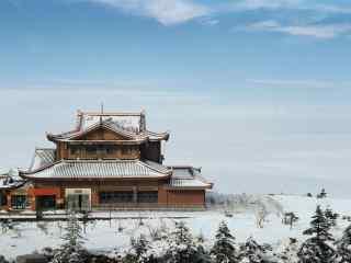 冬日峨眉山山顶雪