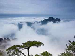 云雾缭绕的黄山山