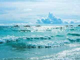 小清新长滩岛护眼风景壁纸
