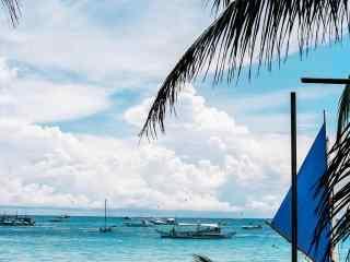 长滩岛清新沙滩风景高清壁纸