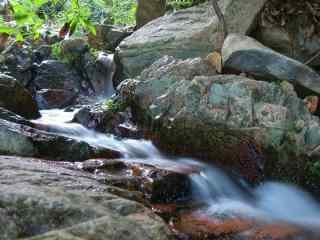 莫干山林建潺潺河