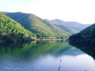 天目湖南山竹海山水风景桌面壁纸