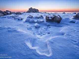 大雪覆盖在了北戴