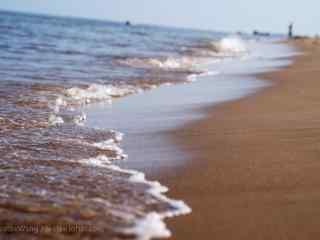 北戴河海水冲刷着
