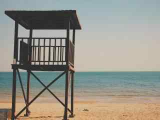 唯美北戴河沙滩上