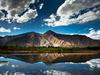 蓝色主题西藏自然