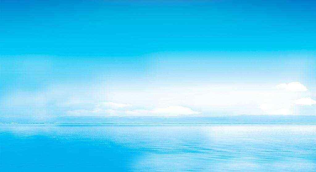 蓝色唯美晴朗天空高清壁纸