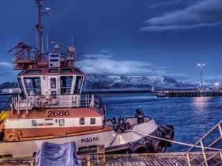 蓝色系列美图帆船