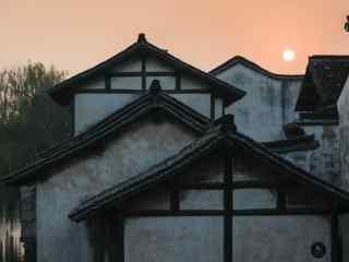 乌镇黄昏风景唯美桌面壁纸