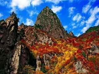 秋日雾灵山唯美景色图片