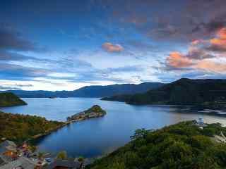四川泸沽湖唯美风
