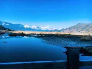 泸沽湖走婚桥护眼风景图片