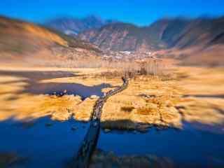 泸沽湖走婚桥风景图片