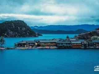 泸沽湖蓝色晨曦风