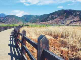泸沽湖走婚桥唯美风景壁纸