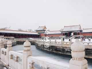 大雪覆盖住故宫桌面壁纸