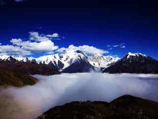 中国最美山峰之唯美的贡嘎山壁纸