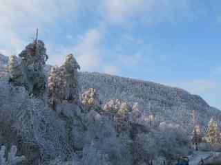 中国最美山峰之峨眉山雪景壁纸