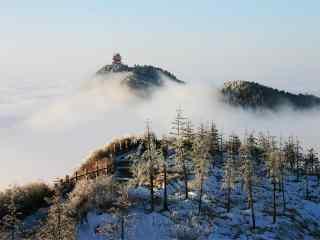 中国最美山峰之峨眉山雪景桌面壁纸