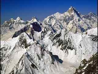 中国最美山峰之乔戈里峰桌面壁纸