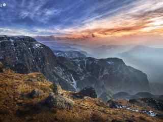唯美长白山日出东方摄影壁纸