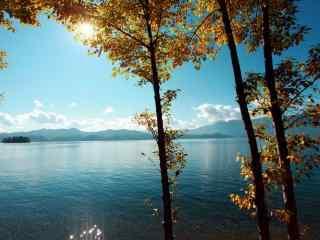 唯美泸沽湖风景桌