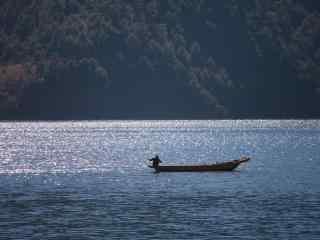 唯美泸沽湖美景壁