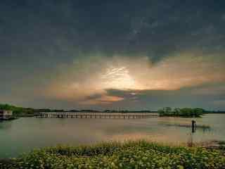 安徽巢湖复古风景壁纸
