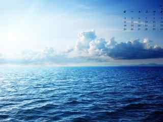 2017年6月日历唯美海洋桌面壁纸