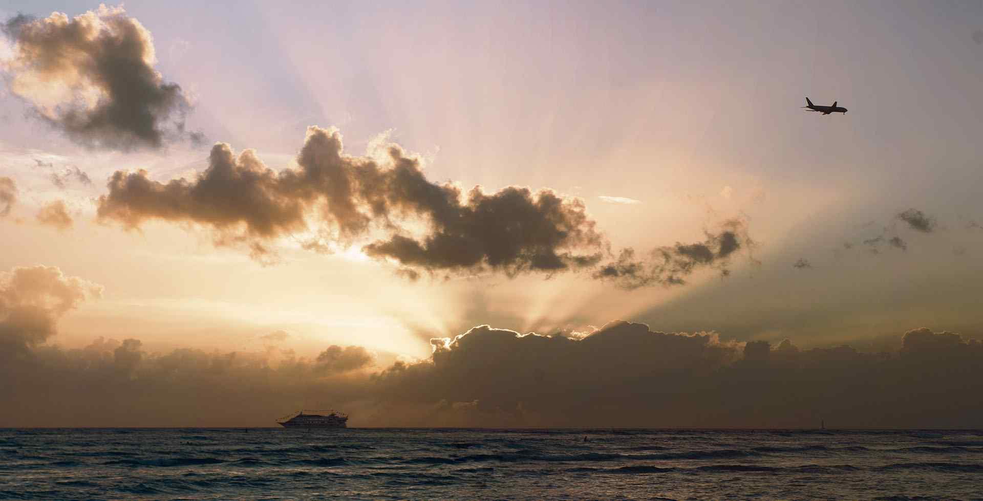 夏威夷清晨风景桌面壁纸