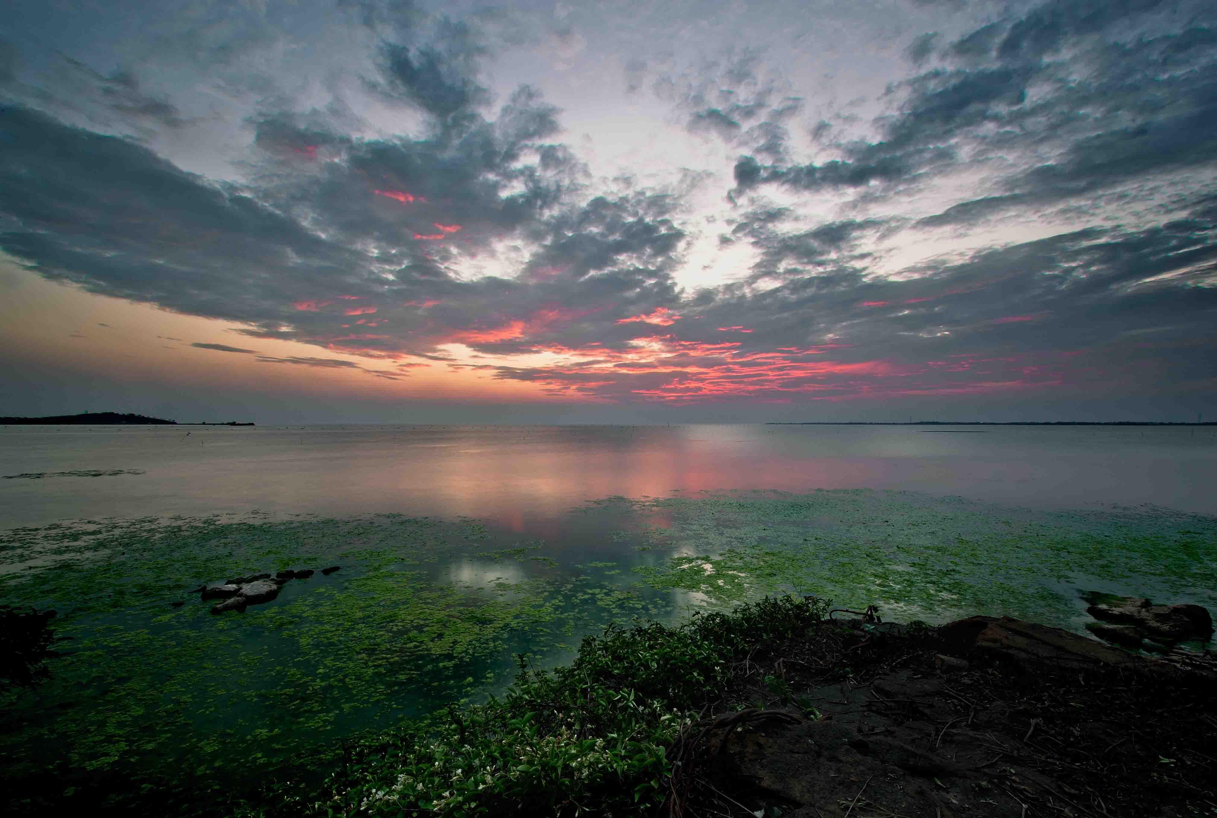苏州太湖唯美日出风景图片