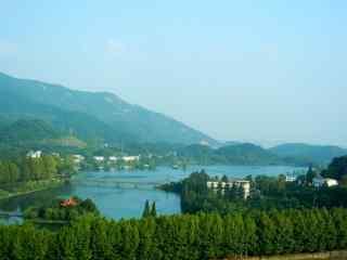 蓝色清新太湖风景桌面壁纸