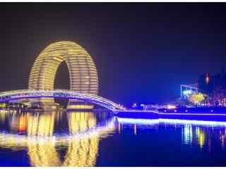 繁华的苏州太湖夜景壁纸
