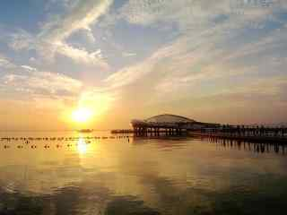 苏州太湖黄昏风景桌面壁纸
