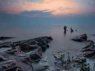 唯美的太湖晨曦风景图片