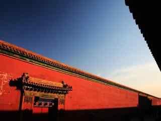 北京故宫美丽的红墙桌面壁纸
